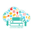 cloud library cloud library vector image vector image
