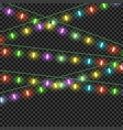 colorful christmas lights effectsgarlands vector image vector image