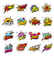 comics bubbles with speech and sound effect clouds vector image