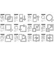 Content Edition line icon set vector image