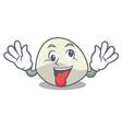 crazy mozzarella cheese isolated on mascot cartoon vector image vector image