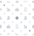 decoration icons pattern seamless white background vector image vector image