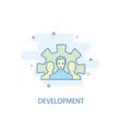 development line concept simple line icon vector image