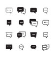 dialog bubbles talking chatting box icons vector image