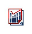 digital business report vector image vector image