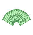 dollar banknotes fan vector image