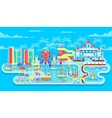 exterior water park vector image vector image