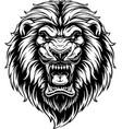 ferocious lion head vector image vector image