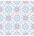 flower pattern blue background boho vector image vector image