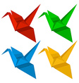 Four origami designs vector image