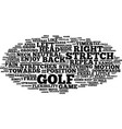 golf stretches enjoy a pain free game text vector image vector image