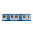 grey blue subway train icon cartoon style vector image
