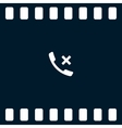Hang up the phone flat icon vector image vector image