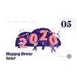 happy new year celebration concept website landing vector image vector image
