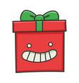 happy smiling present christmas gift box cartoon vector image vector image
