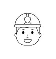 happy worker firefighter cartoon character vector image vector image