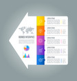 infographic design business concept with 5 options vector image vector image