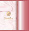 invitation design with a pink marble texture vector image vector image