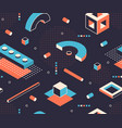 isometric shapes pattern geometric minimal vector image