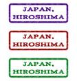 japan hiroshima watermark stamp vector image