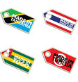 label Made in Tanzania Thailand Togo Tunisia vector image