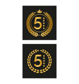 laurel wreath with five stars in two versions vector image