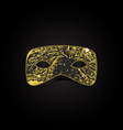 Magic gold mask vector image