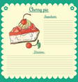 recipe cherry pie vector image