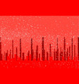red city background vector image vector image