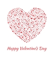 Red Heart for Valentines Day card Background vector image vector image