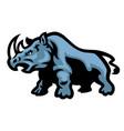 rhino mascot vector image vector image