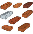 set of brick vector image