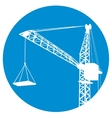 Silhouettes of crane on building vector image vector image