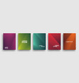 simple modern covers template design set of vector image vector image