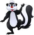 skunk cartoon vector image vector image