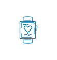 smart watch linear icon concept smart watch line vector image vector image
