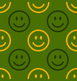 smile icon pattern happy and sad faces on green vector image vector image