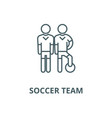 soccer team line icon linear concept vector image