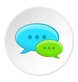 Speech bubble conversation icon cartoon style vector image vector image