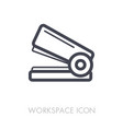 stapler outline icon workspace sign vector image