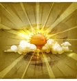 Sun old-style vector image