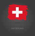 switzerland colorful brush strokes painted vector image vector image