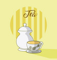 tea cup and sugar jar vector image