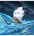 The sail ship vector image vector image
