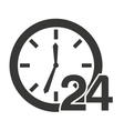 time clock 24 hours icon vector image