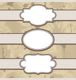 vintage frames set with text place vector image vector image