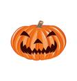 Smile Pumpkin Single Halloween Design Element vector image