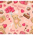 love is pattern vector image