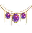 Fantasy purple jewelry vector image