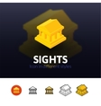 Sights icon in different style vector image